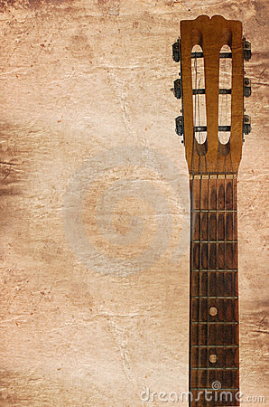 Free Acoustic Guitars Headstock Including Tuning Pegs Royalty Free Stock Photo - 19360485