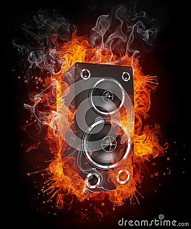 Free Acoustic Loudspeaker Royalty Free Stock Photo - 19681135