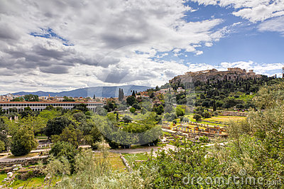 Acrópolis y ágora antiguo de Atenas, Grecia