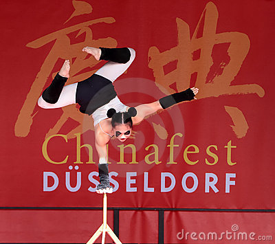 Acrobat of the Chinese State Circus. Editorial Photo