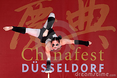 Acrobat of the Chinese State Circus. Editorial Image