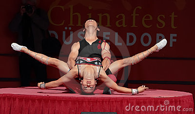 Acrobat of the Chinese State Circus. Editorial Stock Photo