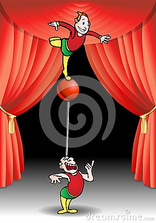 Acrobat performer
