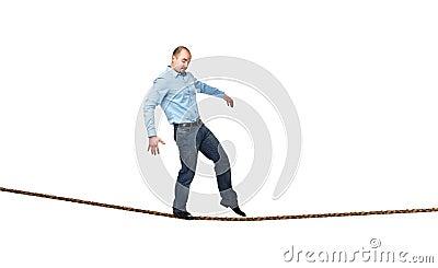 Acrobat on rope