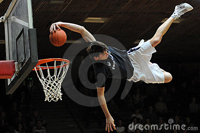 Acrobatic basketball show Editorial Stock Image