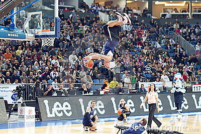 Acrobatic basketball show Editorial Photography