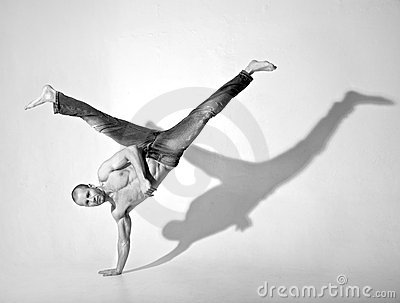 Acrobatic Breakdance Kick