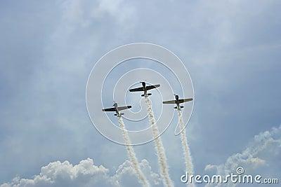 Acrobatic flight, raw Editorial Stock Photo