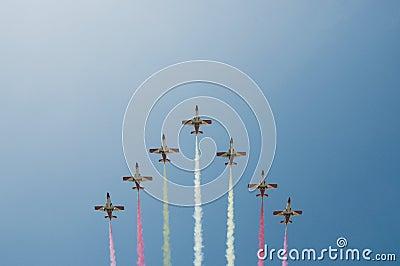Acrobatic formation - Planes over Malaga