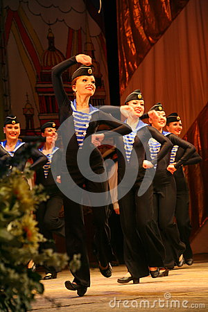 Free Acrobatic Old Traditional National Russian Sailor Dance Yablochko Stock Image - 76104831