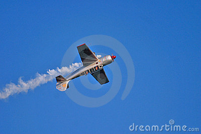 Acrobatic plane during airshow Editorial Photography