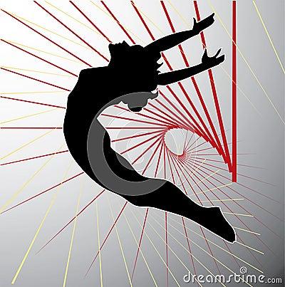 Acrobatic silhouette.