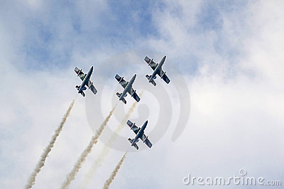 The acrobatic team frecce tricolori