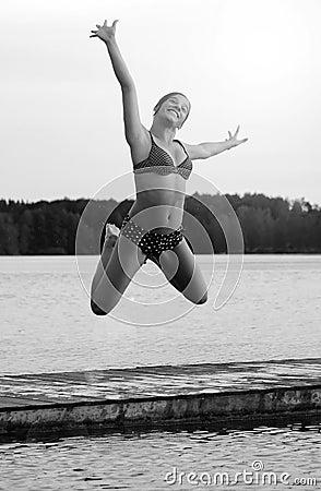 Acrobatic water jump