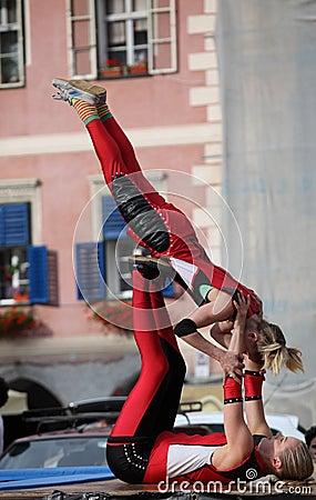 Acrobatics Editorial Stock Photo