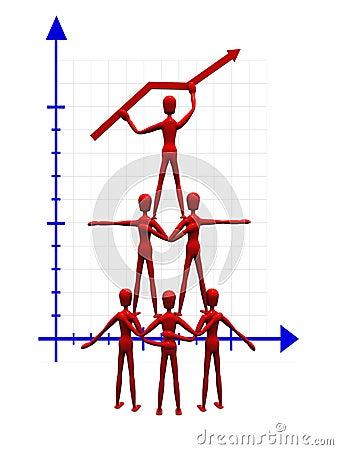 Acrobats holding a graph