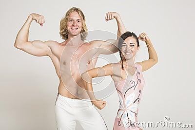 Acrobats show off