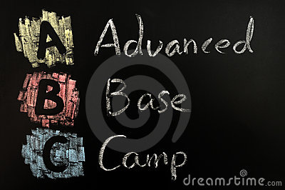 Acronym of ABC - Advanced Base Camp