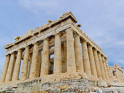 The Parthenon Temple in Greece