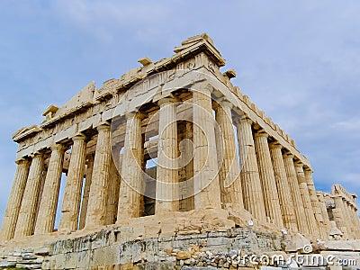 The Parthenon Temple in Greece