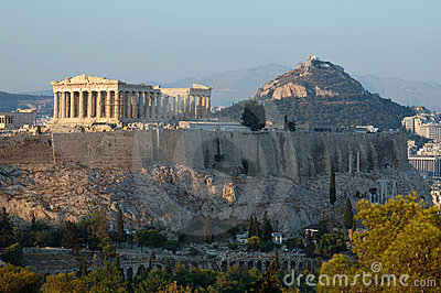 Acropolis, famous landmark in Athens,Greece