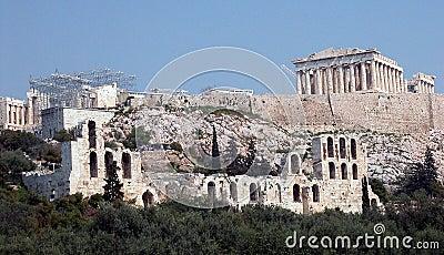 Famous Acropolis hill with Parthenon - Athens