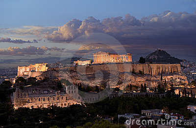 Acropolis monument in Greece