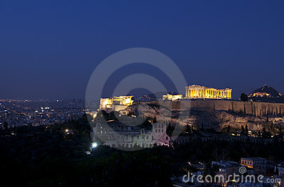Acropolis at night
