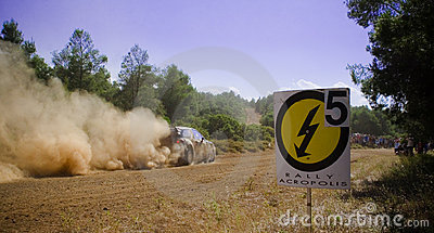 Acropolis Rally 2011 Editorial Stock Photo