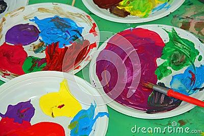 Acrylic color palettes