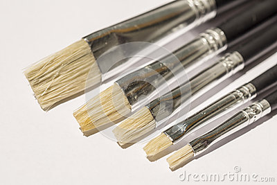 Acrylic Flat Paintbrush Royalty Free Stock Image - Image: 25329156
