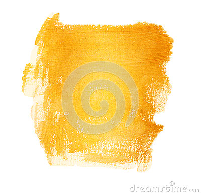 Free Acrylic Gold Brush Strokes With Texture Paint Stains. Isolated , Hand Painted Stock Images - 59630674