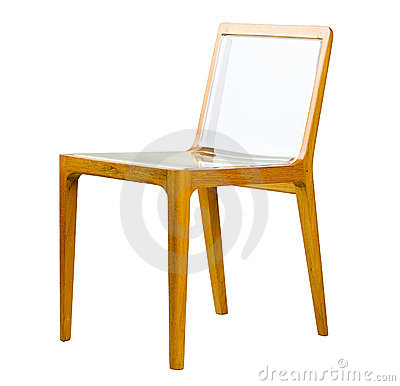 Acrylic wooden chair