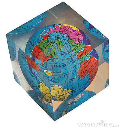 Acrylic world globe