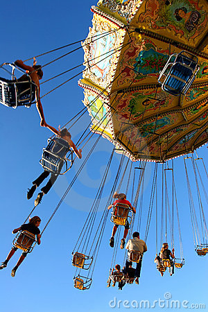 Free Action Photo Of Carousel Stock Image - 2826631