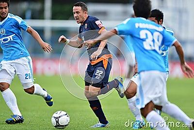 Action In Thai Premier League Editorial Stock Photo