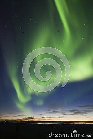 Active aurora and big dipper
