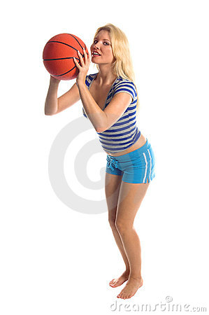 Free Active Basketball Girl Royalty Free Stock Images - 354069