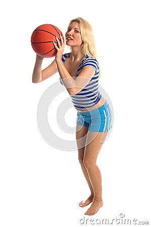 Active Basketball Girl