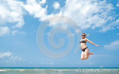 Active beauty jumping