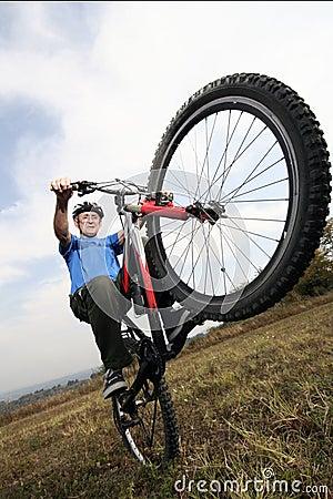 Active biking senior