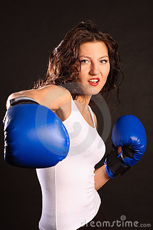 Active boxer.