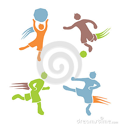 Free Active Boys Fitness Sports Set 2 Stock Photo - 42511140