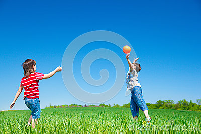 Active boys playing