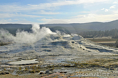 Active Caldera at Yellowstone National Park, USA