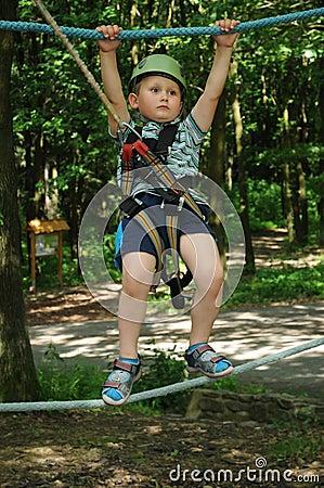 Active child in amusement park