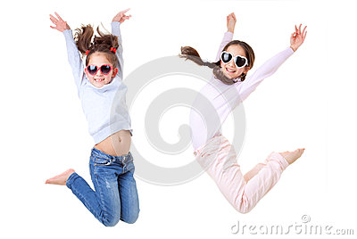Active children jumping