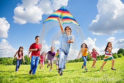 Active games for many kids