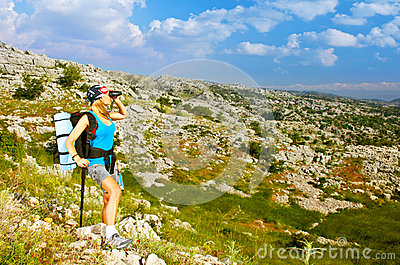 Active hiker girl