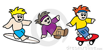 Active kid characters